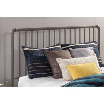 Hillsdale Furniture Brandi Modern Metal Spindle Queen Headboard and Bed Frame, Stone