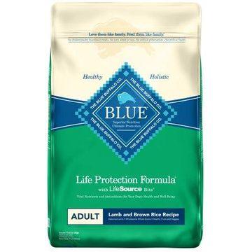 Blue Buffalo Lamb and Brown Rice Recipe Adult Dry Dog Food, 30-lb