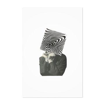 Noir Gallery Abstract Optical Illusion Man Unframed Art Print/Poster