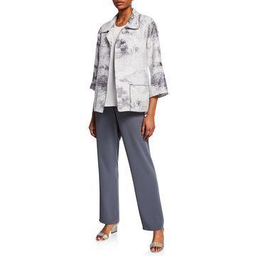 Plus Size Glisten Up Open-Front Topper Jacket
