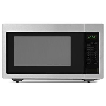 Amana 2.2-cu ft 1200-Watt Countertop Microwave (Black On Stainless)