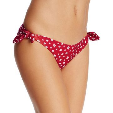 Minkpink Womens Floral Print Side Tie Swim Bottom Separates