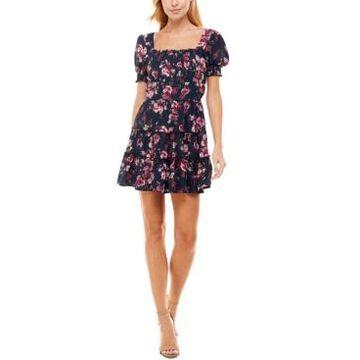 Trixxi Juniors' Emma Printed Fit & Flare Dress