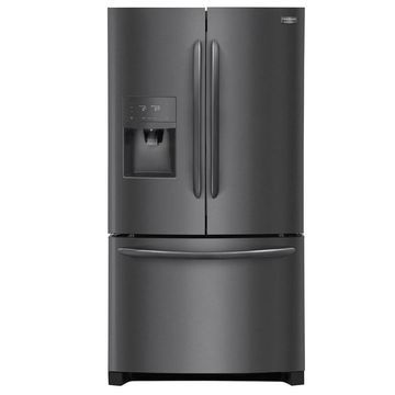 Frigidaire Gallery 21.7-cu ft Counter-depth French Door Refrigerator with Ice Maker (Fingerprint-Resistant Black Stainless Steel Black Stainless Steel) ENERGY STAR