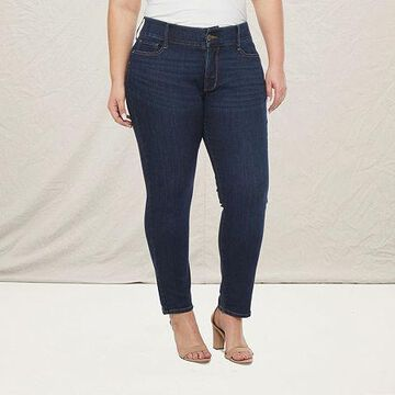 a.n.a - Plus Womens Comfort Waist Skinny Fit Jean