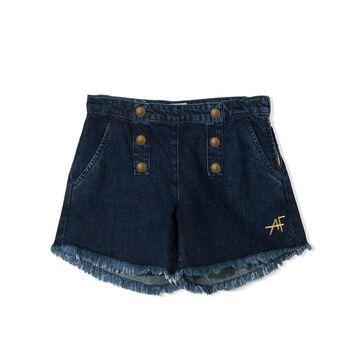 Alberta Ferretti High Waist Shorts With Buttons