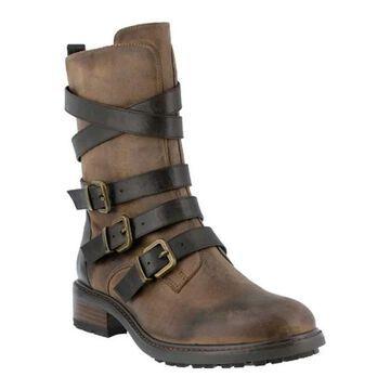 Azura Women's Calmon Boot Khaki Micro Suede
