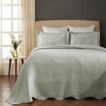 Superior Designer Celtic Circles Scalloped Bedspread (platinum - Twin)
