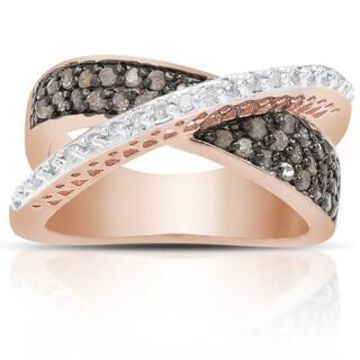 Finesque 1/2ct TDW Black and White Diamond Ring (7)