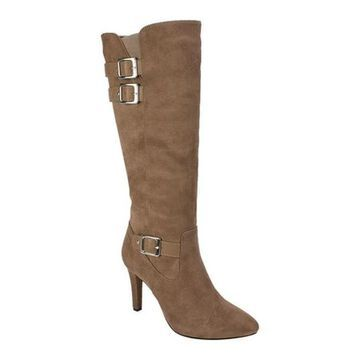 Rialto Women's Cahoon Knee High Boot Desert Suedette/Smooth Polyurethane