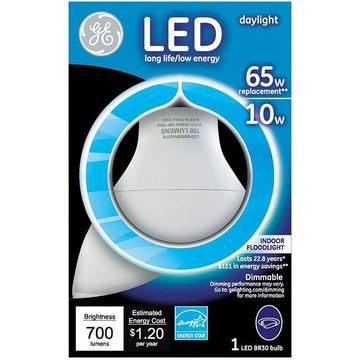 GE Lighting 89942 R30 LED Indoor Floodlight Bulb, 10 Watts, 700 Lumens