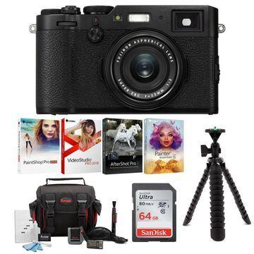 Fujifilm X100F Digital Camera (Black) Accessory Bundle