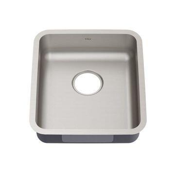 Kraus Dex Undermount 17-in x 19-in Stainless Steel Single Bowl Kitchen Sink