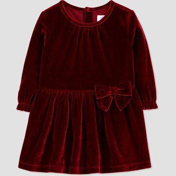 Toddler Girls' Velvet Long Sleeve Dress - Just One You® made by carter's