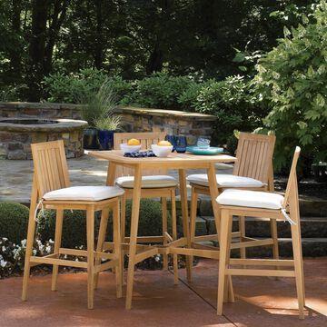 Oxford Garden Islay 36-inch Natural Shorea Square Bar Table