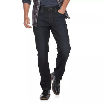 Men's Apt. 9 Premier Flex Straight-Fit Stretch Jeans, Size: 32X34, Dark Blue
