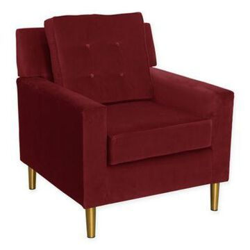 Skyline Furniture Parkview Chair in with Metal Legs in Velvet Berry