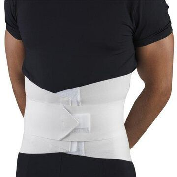 OTC Lumbosacral Support with Abdominal Uplift, White, X-Small