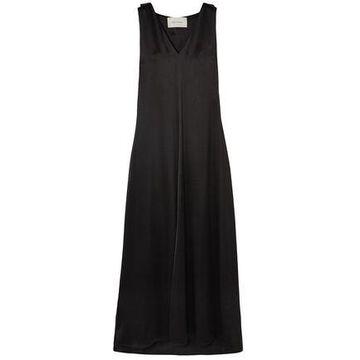 Cedric Charlier Satin Maxi Dress