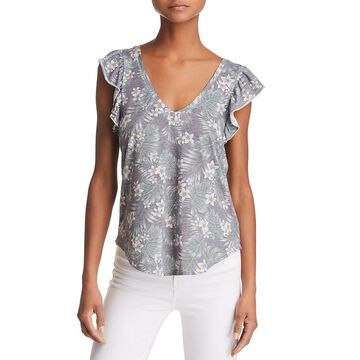 Chaser Womens Printed Floral Blouse