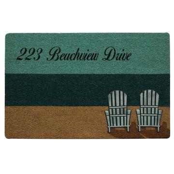 Bacova Guild Koko Beach Chairs Printed Rectangular Outdoor Doormat