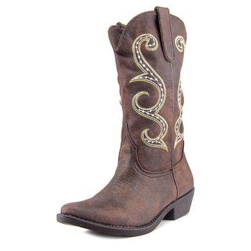 American Rag Womens dawnn Fabric Pointed Toe Mid-Calf Cowboy
