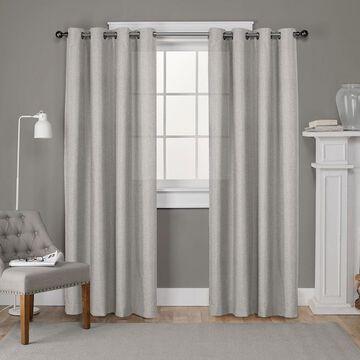 Exclusive Home 2-pack Loha Linen Grommet Top Window Curtains