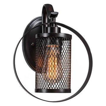 Infinity 1 Wall Sconce Espresso Finish W/Amber Antique Led Bulb (1612-ES-LED18A)