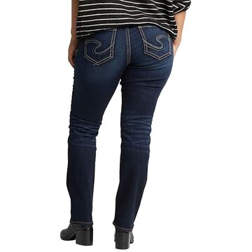 Silver Jeans Co. Women's Plus Size Suki Curvy Fit Mid