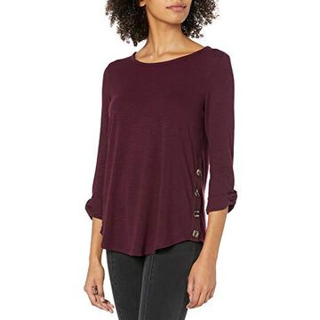 A. Byer Junior's Long Sleeve Side-Button Top