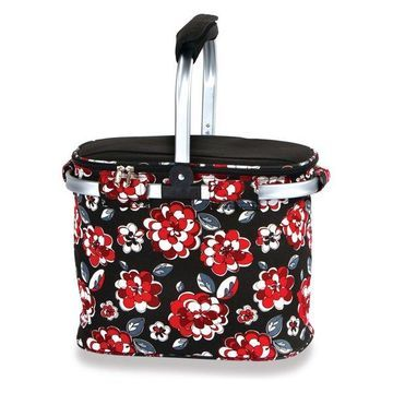 Shelby Collapsible Market Tote, Red Carnation