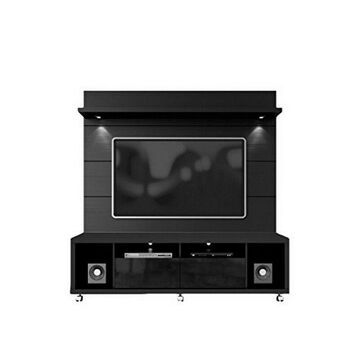 Manhattan Comfort Cabrini TV Stand and Floating Wall TV Panel- Black NEW
