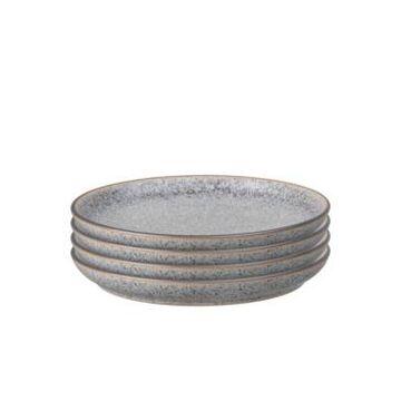 Denby Studio Craft Grey 4 Piece Medium Coupe Plate Set