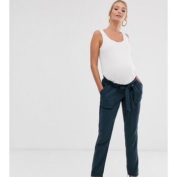 Mamalicious Maternity tailored cargo pants in navy