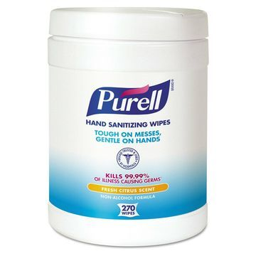 PURELL Sanitizing Hand Wipes 6 x 6 3/4 White 270/Canister 6 Canisters/Carton