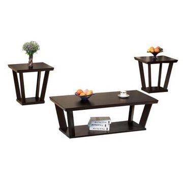 Contemporary Style Coffee & End Table Coffee - Benzara