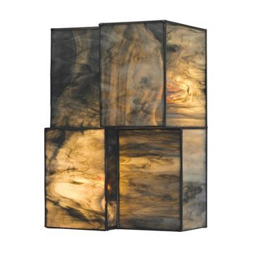 Westmore Lighting Tectonicus 7-in W 2-Light Brushed Nickel Wall Sconce