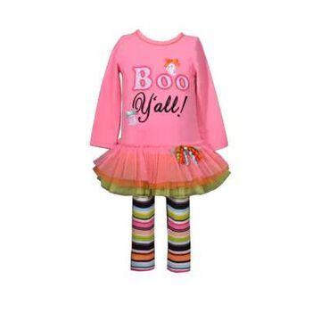 Bonnie Jean Girls' Baby Girls Boo Yall Top And Leggings Set - -