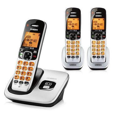 Uniden D1760-3 Cordless Phone System with Expandable Up To 12 Handsets
