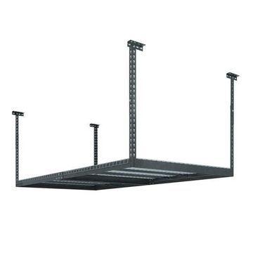 NewAge Products Performance Adjustable VersaRac Ceiling Storage Rack Gray New