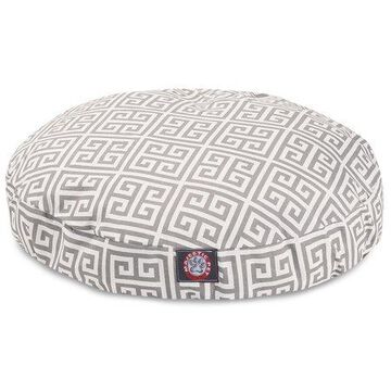 Majestic Pet Towers Round Dog Bed Treated Polyester Removable Cover Grey Medium 36 x 36 x 5