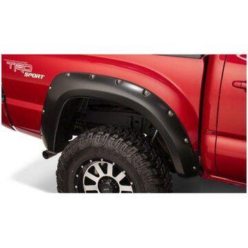 Bushwacker 12-15 Toyota Tacoma Fleetside Pocket Style Flares 2pc 60.3in Bed - Black