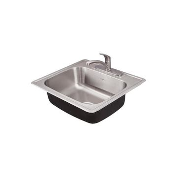 American Standard Colony Drop-In 25-in x 22-in Stainless Steel Single Bowl 3-Hole Kitchen Sink | 22SB.6252283C.075