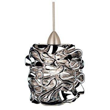 WAC Lighting Candy LED 1 Light Pendant, Silver, Brushed Nickel