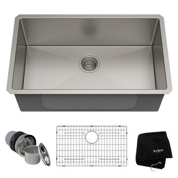 KRAUS Standart PRO Undermount Single Bowl Stainless Steel Kitchen Sink (As Is Item)