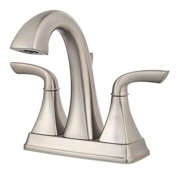 Pfister Bronson Brushed Nickel 2-handle 4-in Centerset WaterSense Bathroom Sink Faucet with Drain