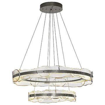Hubbardton Forge Solstice LED Chandelier - Color: Clear - 139780-1010