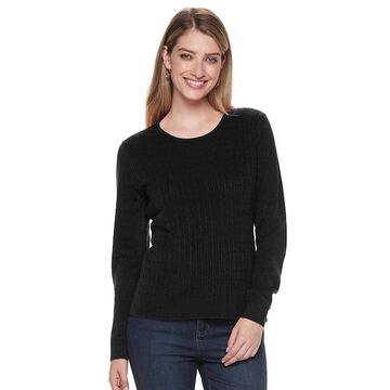 Women's Napa Valley Crewneck Cable-Knit Sweater