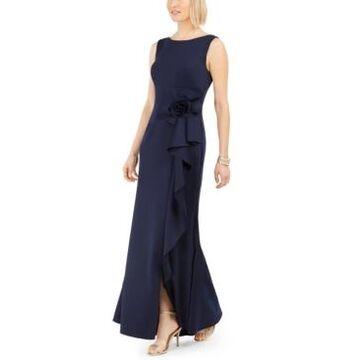 Jessica Howard Cascading-Ruffle Gown