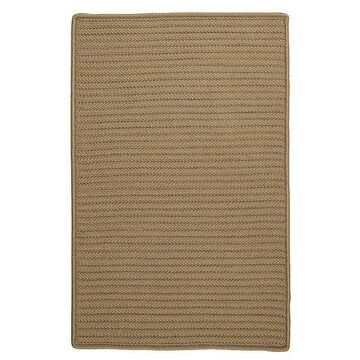 Colonial Mills Simply Home Solid Indoor Outdoor Rug, Lt Brown, 6X9 Ft